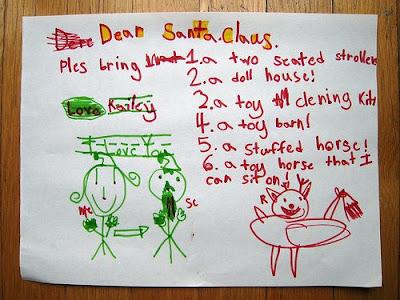 wish list, child to Santa