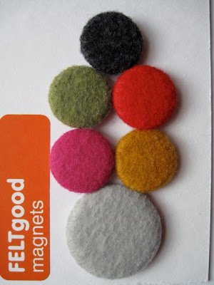 felted magnets, assorted colors