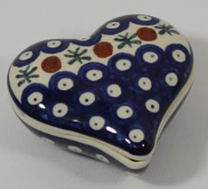 heart shaped box - Polish pottery