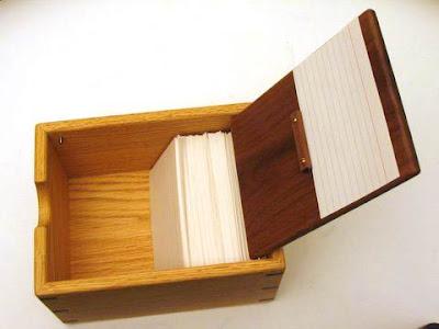 wooden recipe box