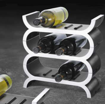 stainless steel stacking wine rack