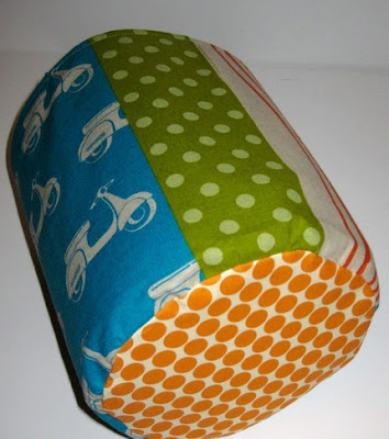 fabric bucket with mopeds