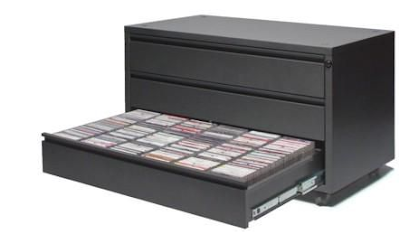 CD cabinet, steel, 3-drawer, 270 cds per drawer