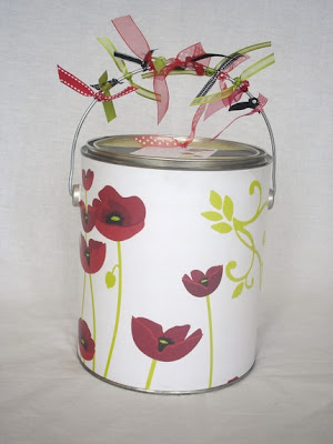 decorated paint can