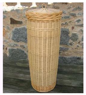 huche à pain - round wicker bread basket for baguettes