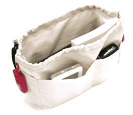 purse organizer with pockets