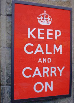 original Keep Calm and Carry One poster