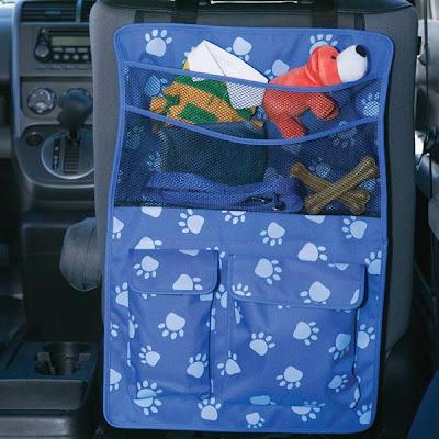 car seat organizer for dog stuff