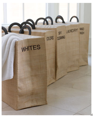 laundry totes - whites, colors, dry cleaning, laundry, hand wash