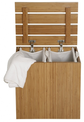 bamboo laundry sorter