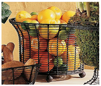 French wire fruit basket / bowl