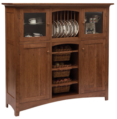 wood cabinet with veggie bins