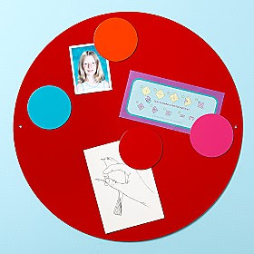 round red magnetic board