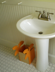 storage bin with moose shape