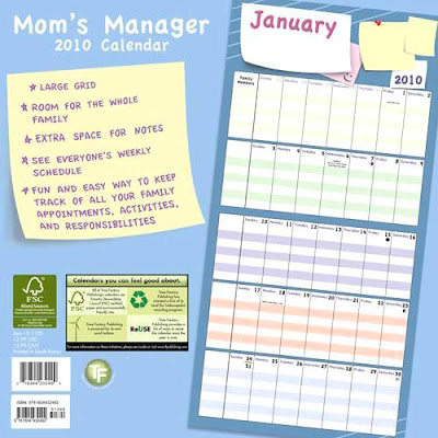 mom wall calendar with large grid