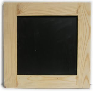 magnetic chalkboard, wood frame