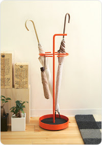 orange umbrella stand