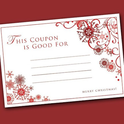 Christmas gift coupon