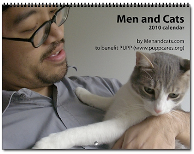 men and cats calendar