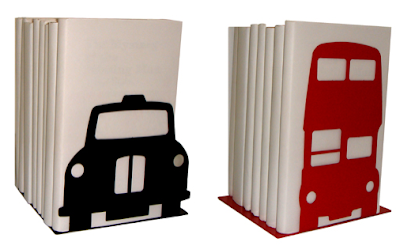 London taxi and double-decker bus bookends