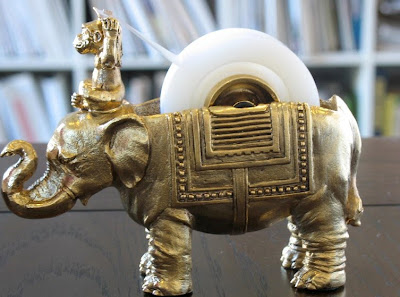 elephant and monkey tape dispenser