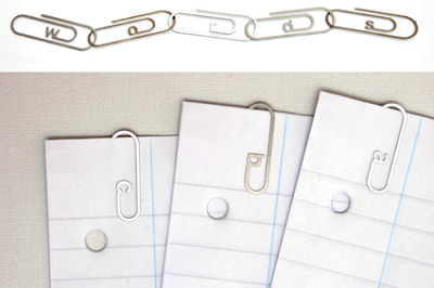alphabet paper clips