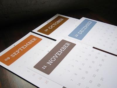wall calendar, simple