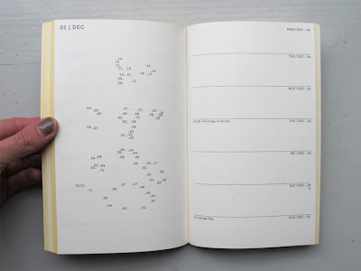 agenda with connect-the-dots puzzle