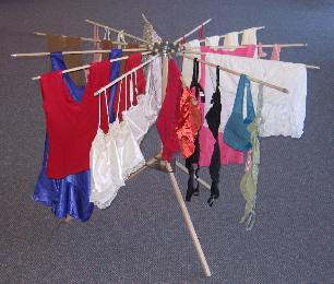 drying rack with delicates