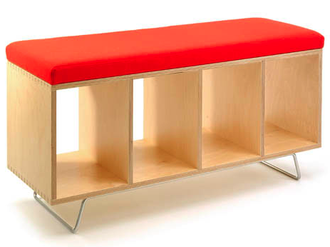 Bench With Shelves Underneath