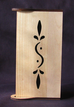 key cabinet, birch