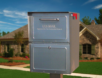 post-mounted locking mailbox