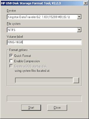форматирование карты памяти с помощью HP_USB_Disk_Storage_FormatTool_2.2.3