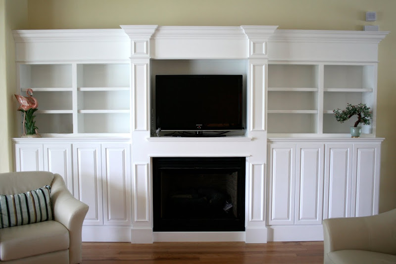 Built In Wall Units Around Fireplace (6 Image)