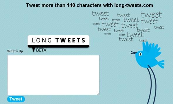 comment envoyer des longs twitts