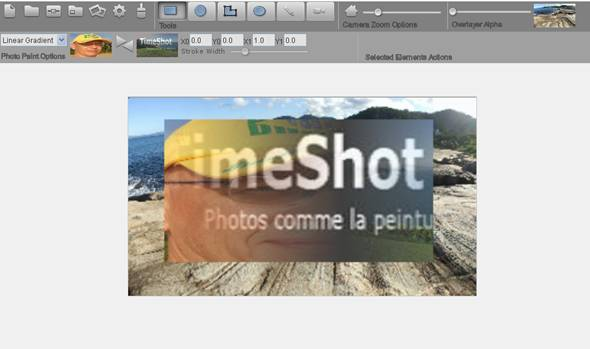 retouche photo avec time shot