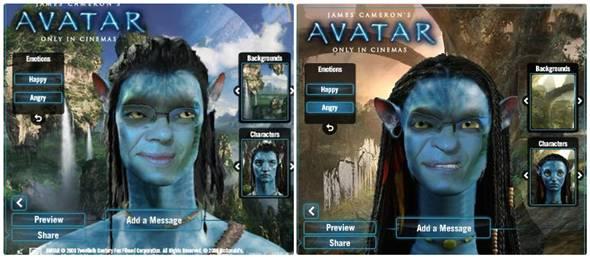 créer un avatar à partir du film avatar