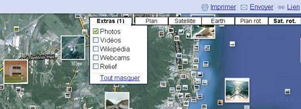 extra de google map