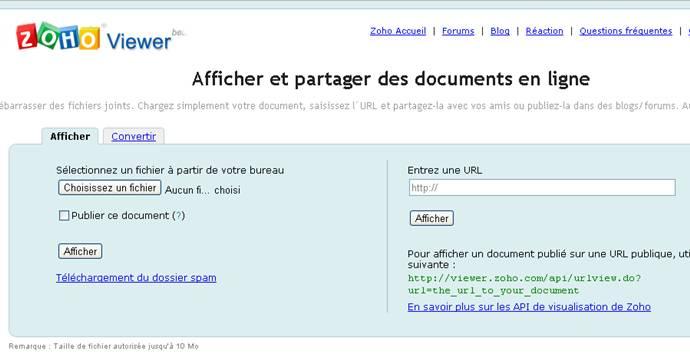 visualiser des documents en ligne