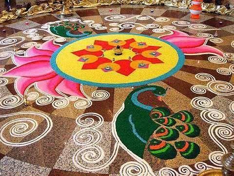 Beautifull Latest Rangoli Patterns, Unique Rangoli Designs
