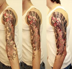Arm japanese Koi Tattoos