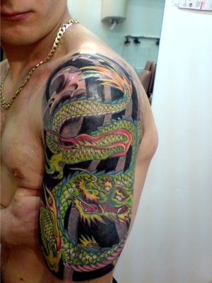 Arm Japanese Dragon Tattoo Style