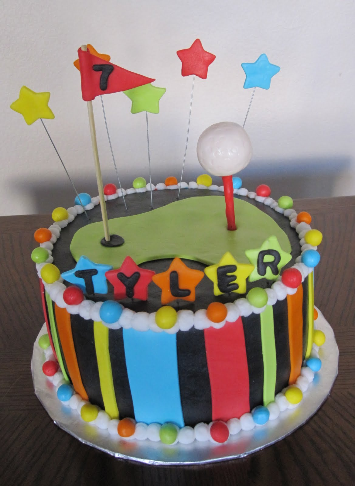 Ms Cakes Neon Golf Cake
