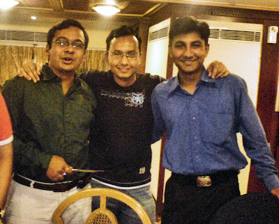 Joydeep Mukherjee, Romil Goel and Yuvraj Singh