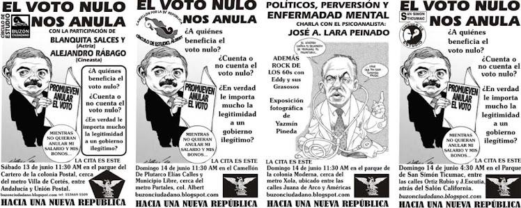 EN LOS CÍRCULOS DE ESTUDIO: BUZON CIUDADANO, CAMELLÓN POR LA IV REPÚBLICA, LA MODERNA  Y TICUMAC