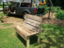 Garden Daddy Recycled Pallet Bench