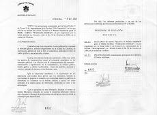 Declarado por el Ministerio de Educación de la Provincia de Córdoba, EVENTO DE INTERES EDUCATIVO