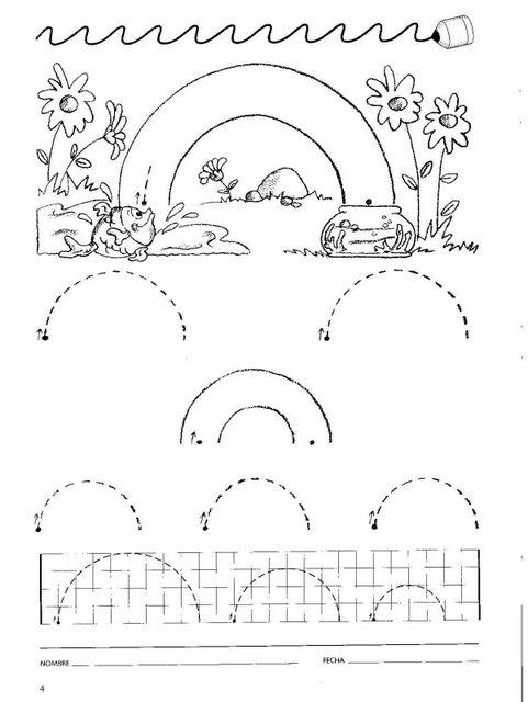 Psicomotricidad Infantil: Cuadernillos de apresto para niños de 4 años
