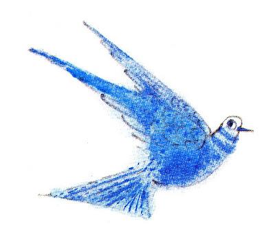 blue bird detail