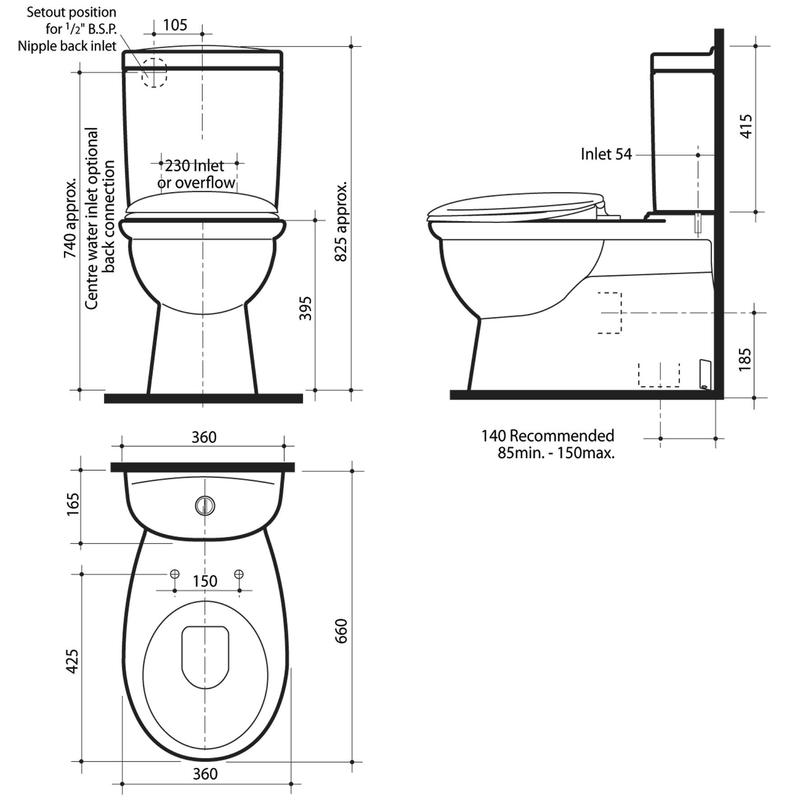 28 toilet dimensions floor plan symbols public for Bathroom dimensions